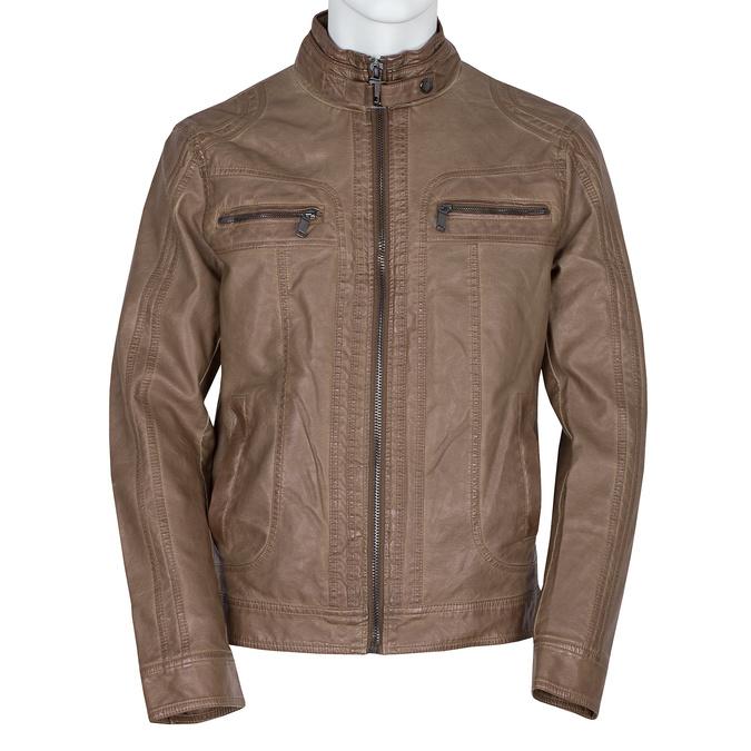 Hnedá pánska bunda z koženky bata, hnedá, 971-3194 - 13