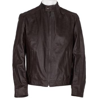 Hnedá pánska kožená bunda bata, hnedá, 974-4154 - 13