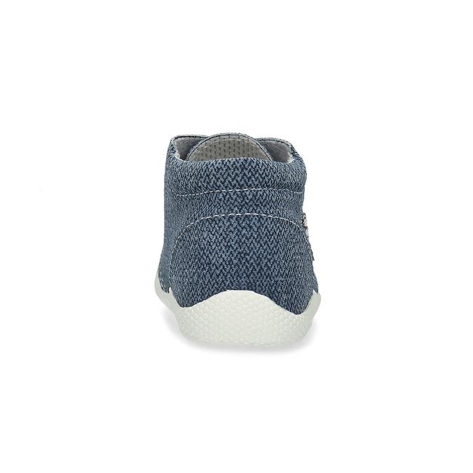 Detské členkové tenisky bata, modrá, 113-9609 - 15