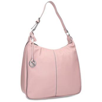Ružová dámska kabelka v Hobo štýle gabor-bags, ružová, 961-5439 - 13