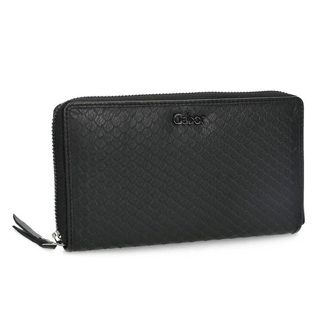 Kožená dámska peňaženka so šupinami gabor-bags, čierna, 946-6002 - 13