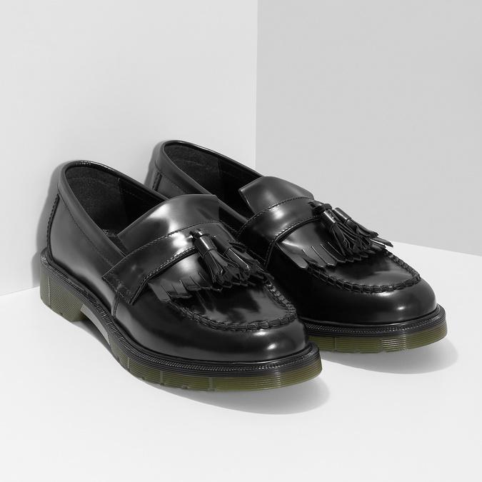 Kožené pánske mokasíny na výraznej podrážke bata, čierna, 814-6176 - 26