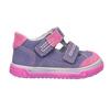 Detské kožené topánky na suchý zips bubblegummers, fialová, 126-9601 - 26