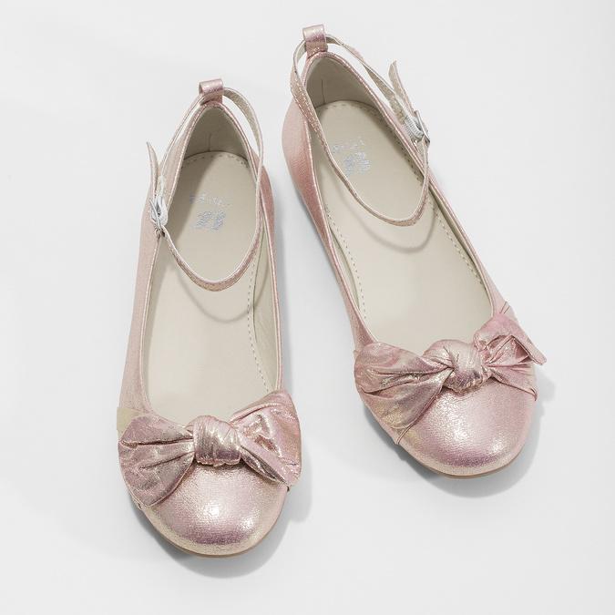 Ružové baleríny s veľkou mašľou mini-b, ružová, 329-5227 - 16