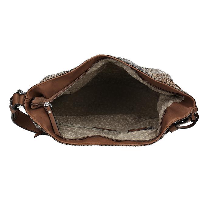 Kabelka v dizajne hadej kože gabor-bags, hnedá, 961-3008 - 15
