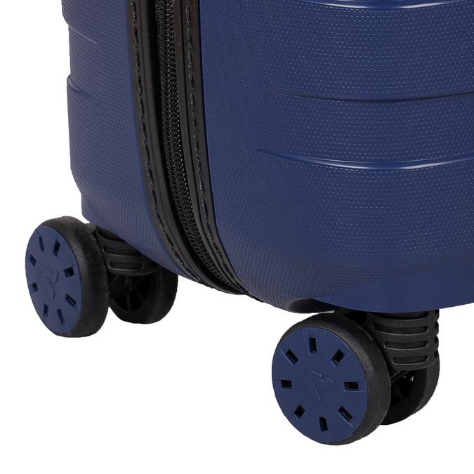 Menší cestovný kufor na koliečkach roncato, modrá, 960-9608 - 16
