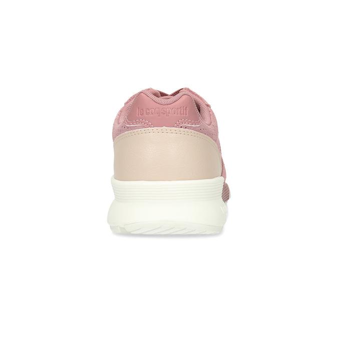 Ružové dámske tenisky z brúsenej kože le-coq-sportif, ružová, 503-5309 - 15