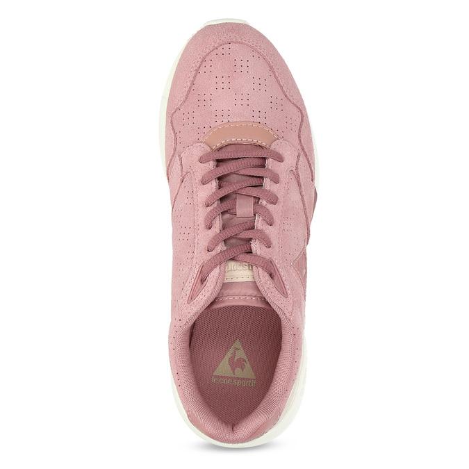 Ružové dámske tenisky z brúsenej kože le-coq-sportif, ružová, 503-5309 - 17