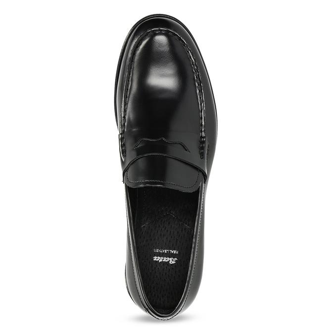 Čierne pánske kožené mokasíny bata, čierna, 814-6177 - 17