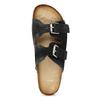 Pánske kožené nazuváky bata, čierna, 866-6648 - 17