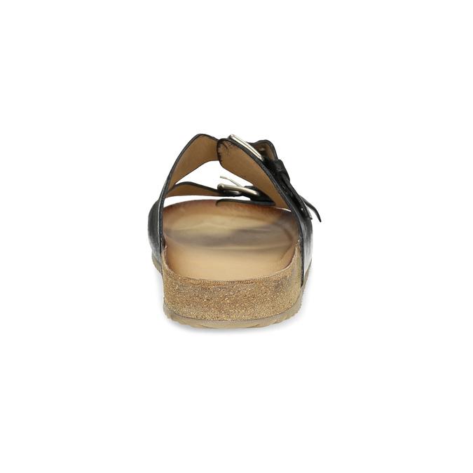 Pánske kožené nazuváky bata, čierna, 866-6648 - 15