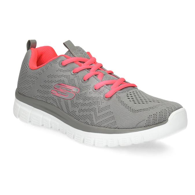 Dámske športové ružovo-šedé tenisky skechers, šedá, 509-2418 - 13