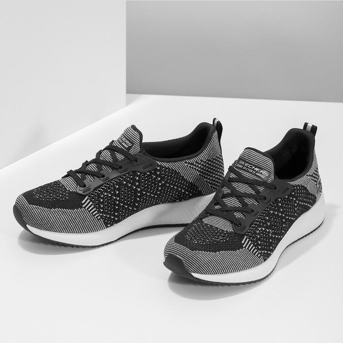 Dámske čierno-biele tenisky skechers, čierna, 509-6990 - 16