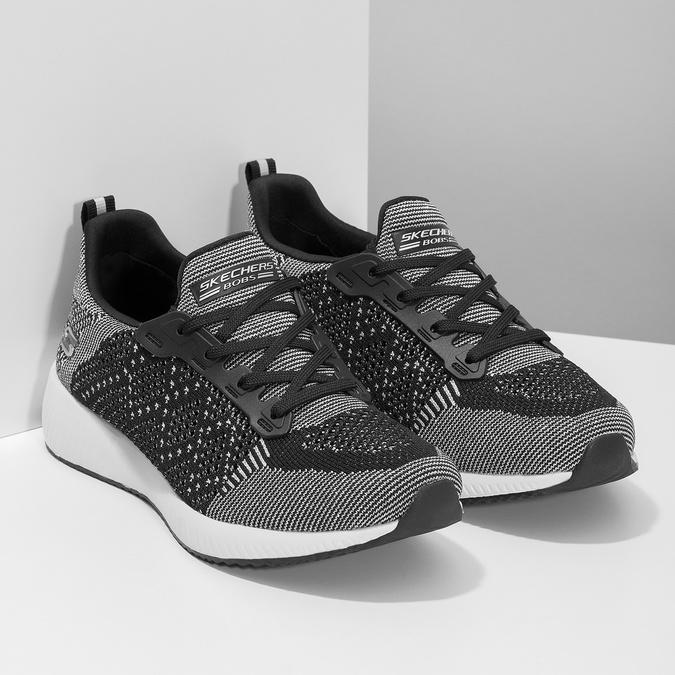 Dámske čierno-biele tenisky skechers, čierna, 509-6990 - 26