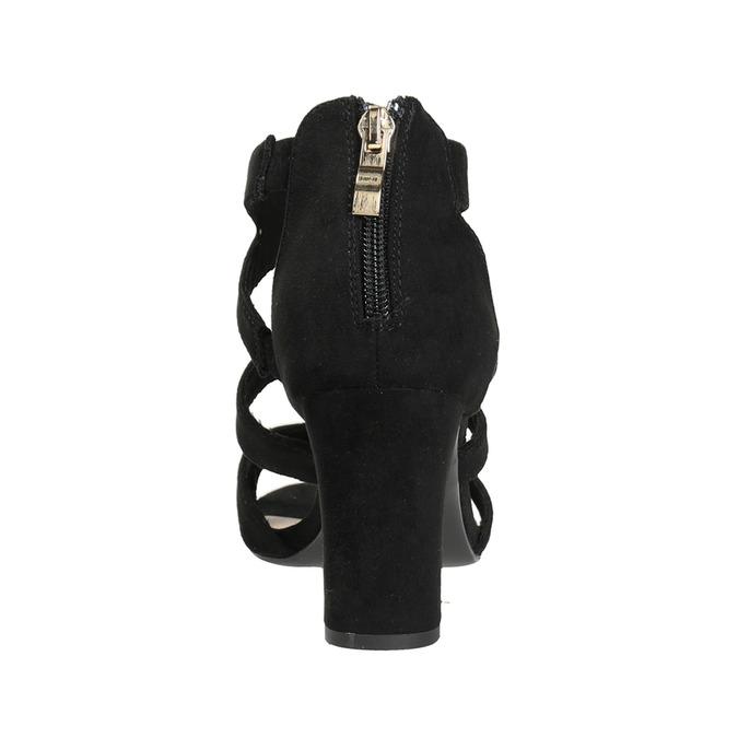 Čierne sandále na stabilnom podpätku insolia, čierna, 769-6617 - 15