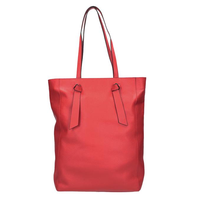Červená kožená kabelka v štýle shopping bag bata, červená, 964-5297 - 26