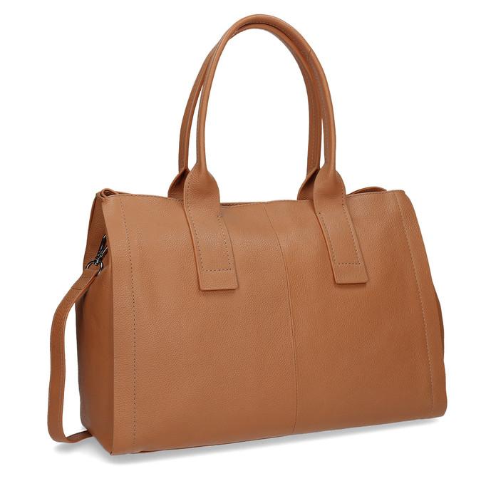 Svetlo hnedá kožená kabelka bata, hnedá, 964-3298 - 13