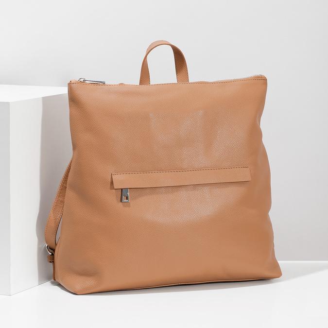 Mestský hnedý kožený batoh bata, hnedá, 964-3295 - 17