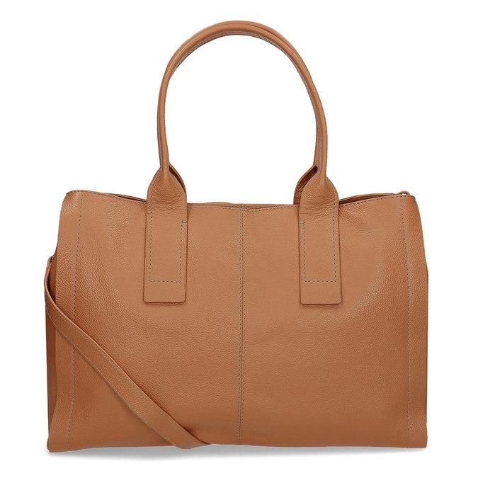 Svetlo hnedá kožená kabelka bata, hnedá, 964-3298 - 16