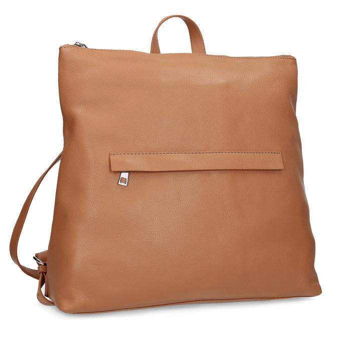 Mestský hnedý kožený batoh bata, hnedá, 964-3295 - 13
