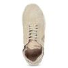Béžové tenisky z brúsenej kože le-coq-sportif, béžová, 503-3308 - 17
