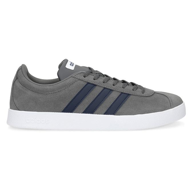 Pánske šedé tenisky z brúsenej kože adidas, šedá, 803-2379 - 19