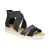 Čierno-strieborné dámske sandále bata, čierna, 569-6608 - 13
