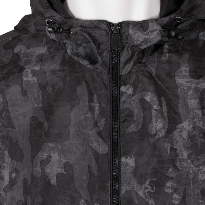 Pánska šedá bunda s maskáčovým vzorom bata, šedá, 979-2127 - 16
