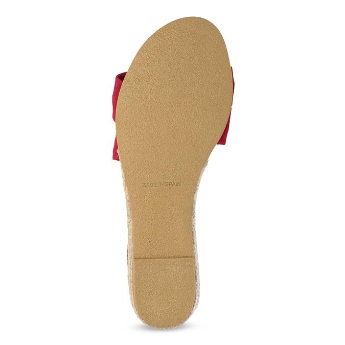 Červené kožené sandále na kline bata, červená, 563-5600 - 18