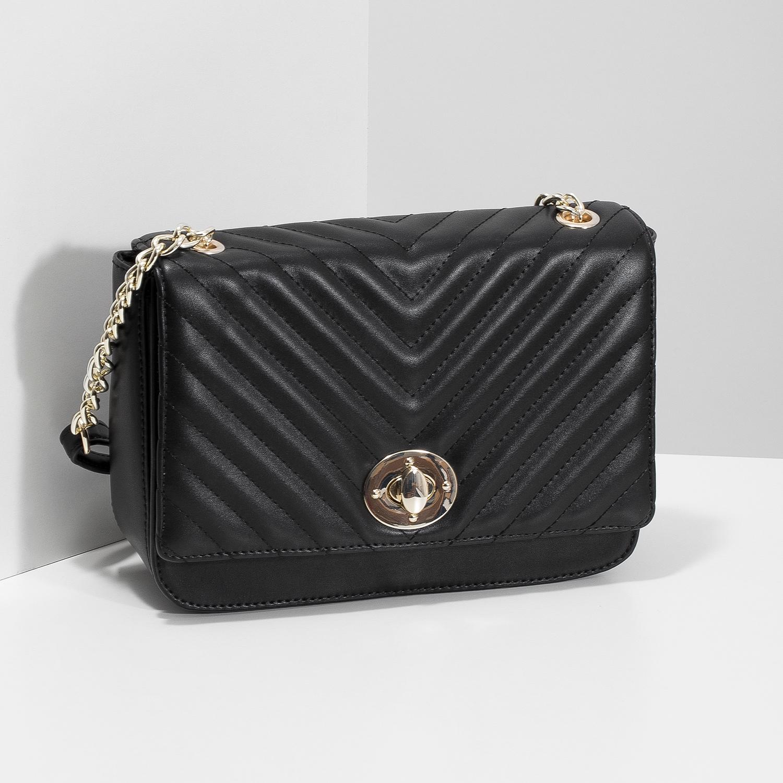 Bata Red Label Čierna prešívaná kabelka s retiazkou - Malé kabelky ... 2ce9f2e807f