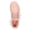 Dámske svetlé ružové tenisky z úpletu power, ružová, 509-5217 - 17