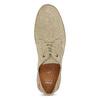 Pánske béžové kožené tenisky s perforáciou bata, béžová, 823-8617 - 17