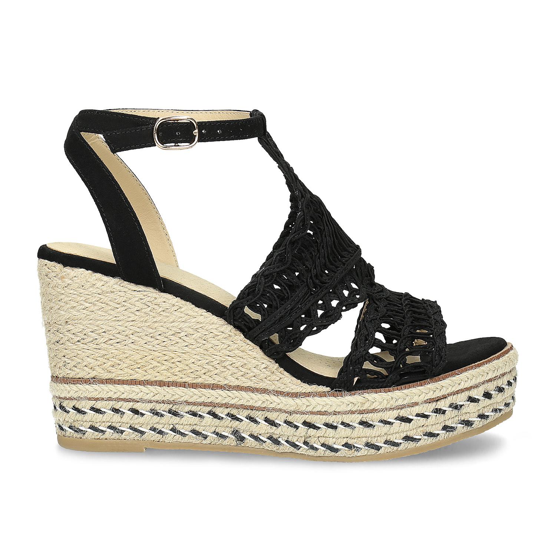 d3eee2b53f9ef ... Čierne prepletané sandále na platforme bata, čierna, 759-6633 - 19 ...