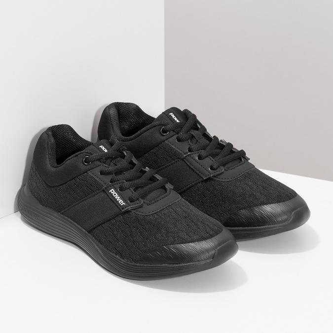 Čierne tenisky s mäkkou stielkou power, čierna, 509-6855 - 26