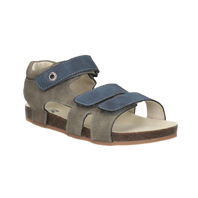Detské sandále na suchý zips mini-b, modrá, 261-9609 - 13