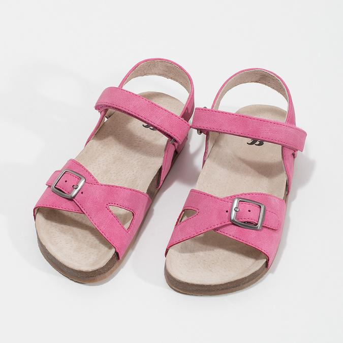 Ružové dievčenské sandále mini-b, ružová, 261-5610 - 16