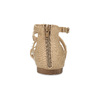 Dievčenské sandále s perličkami bullboxer, béžová, 361-8609 - 15
