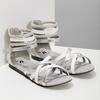 Bielo-strieborné dievčenské sandále mini-b, strieborná, 361-1605 - 26