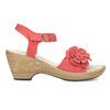 Sandále na stabilnom podpätku s kvetinami comfit, červená, 661-5613 - 19