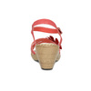 Sandále na stabilnom podpätku s kvetinami comfit, červená, 661-5613 - 15