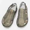 Pánske hnedé kožené sandále bata, hnedá, 866-2622 - 16