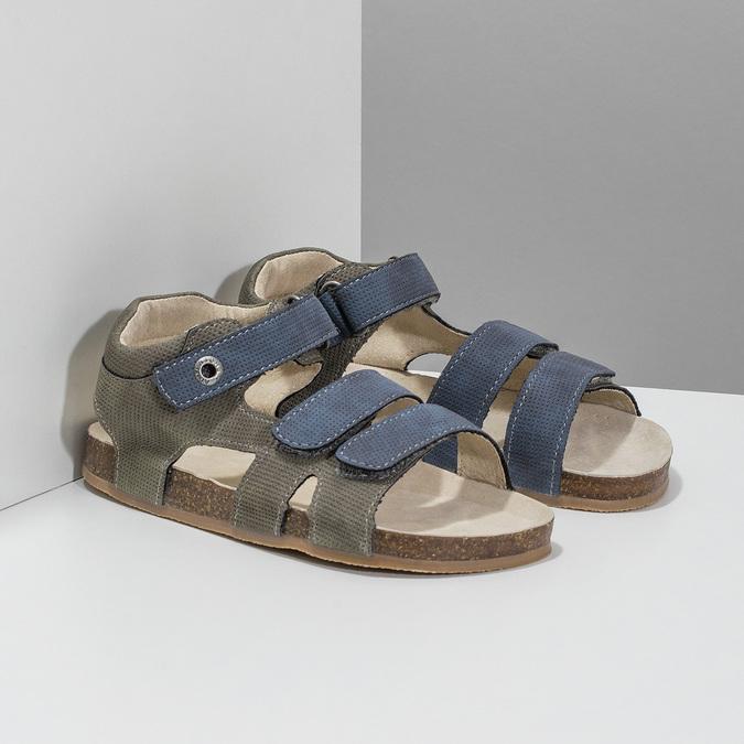Detské sandále na suchý zips mini-b, modrá, 261-9609 - 26