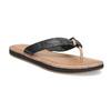 Čierne kožené dámske žabky bata, čierna, 566-6645 - 13