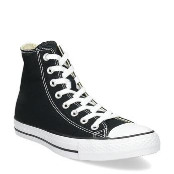 Pánske čierno-biele tenisky s gumovou špičkou converse, čierna, 889-6278 - 13