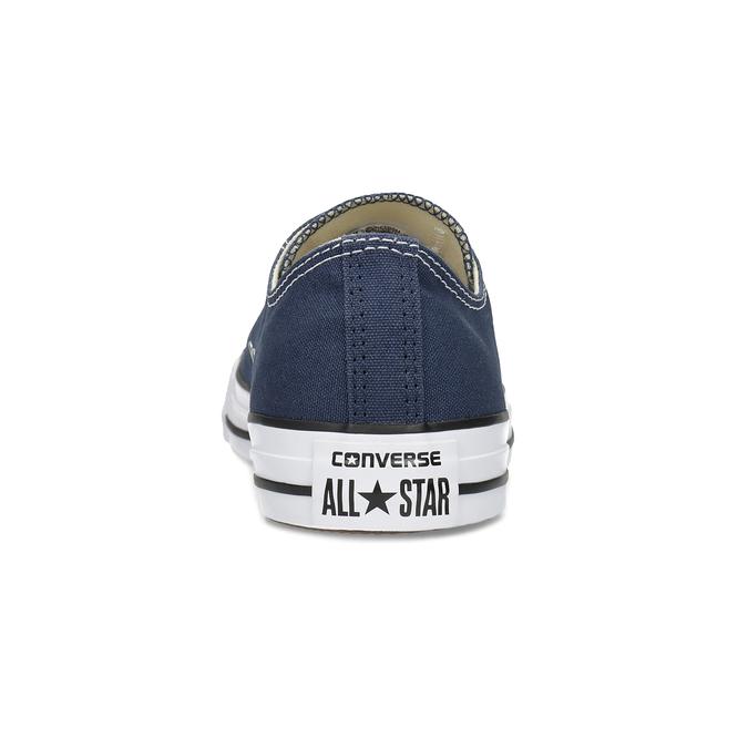 Dámske textilné tenisky s gumovou špičkou converse, modrá, 589-9279 - 15