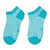 Dámske pruhované členkové modré ponožky bata, 919-9816 - 26