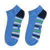 Členkové modré ponožky s pruhmi bata, modrá, 919-9803 - 26