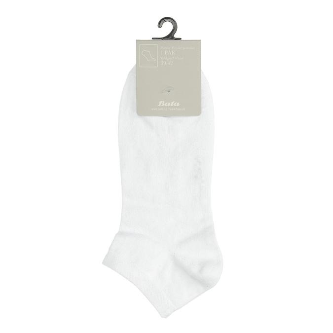 Pánske biele členkové ponožky bata, biela, 919-1802 - 13