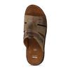 Pánske kožené nazuváky s prešitím bata, hnedá, 866-4615 - 17