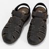 Kožené sandále so zavretou špičkou bata, hnedá, 866-4616 - 16